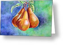 Trio Of Pears Greeting Card