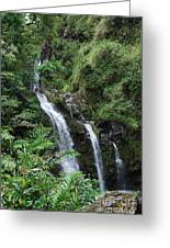 Trio Of Waterfalls Greeting Card