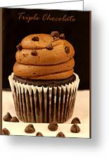 Triple Chocolate Cupcake Greeting Card