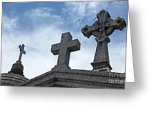 Triple Crosses Greeting Card