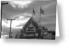 Triple Crown Diner In Black And White Greeting Card