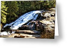Triple Falls II Greeting Card