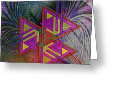 Triple Harmony - Square Version Greeting Card