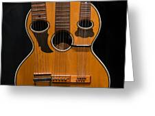 Triple-neck Instrument Greeting Card