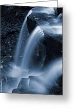 Triple Plunge Twilight Waterfall Greeting Card