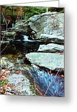 Triple Waterfall Greeting Card