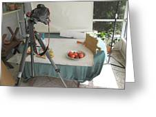 Tripod And Bowl Of Fruit Greeting Card