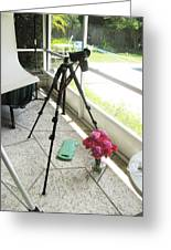 Tripod And Roses On Floor Greeting Card