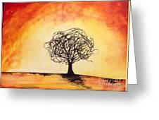 Tripping Tree Greeting Card