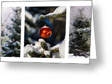 Triptych - Christmas Forest - Featured 3 Greeting Card