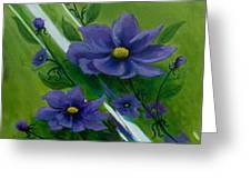 Floral Triptych 1 Greeting Card