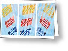 Triptych Sunrise 1 Greeting Card