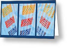 Triptych Sunrise 2 Greeting Card