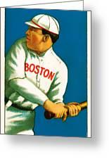Tris Speaker Boston Red Sox Baseball Card 0520 Greeting Card