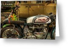 Triton Motorbike Greeting Card