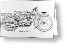 Triumph-bat 750c.c. Greeting Card