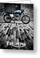 Triumph Bonneville Greeting Card