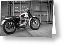 Triumph Bonneville T120 Tt Greeting Card