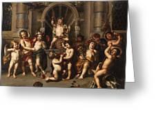 Triumph Des Bacchus Greeting Card