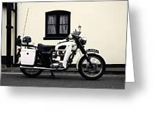 Triumph Metropolitan Police Greeting Card