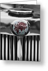 Triumph Roadster Emblem Selective Color Greeting Card