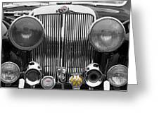 Triumph Roadster Front End Selective Color Greeting Card