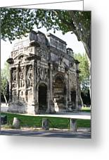 Triumphal Arch - Orange Provence Greeting Card