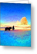 A Very Cold Winter Can Give Warmth To Your Heart  Greeting Card