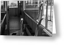 Trolley 28 Leaver Black And White Greeting Card
