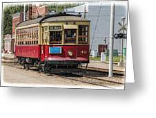 Trolley Car At The Fort Edmonton Park Greeting Card