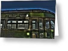Trolley Windows Greeting Card