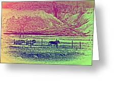 Now And Then You Dream Of The Old Fields Back Home  Greeting Card