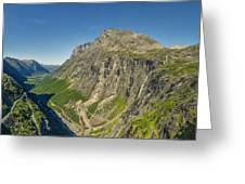 Trollstigen From The Very Top Greeting Card