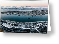 Tromso From The Mountains Greeting Card
