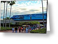 Tron Monorail At Walt Disney World Greeting Card by Thomas Woolworth