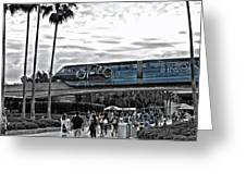 Tron Monorail Wdw In Sc Greeting Card by Thomas Woolworth