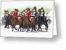 Trooping Of The Colour Greeting Card