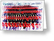 Trooping The Colour Greeting Card