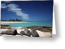 Tropic Of Cancer Beach Exuma Bahamas Greeting Card