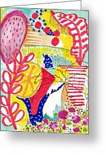 Tropical Abstract Greeting Card