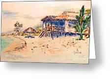 Tropical  Beach Hut Greeting Card