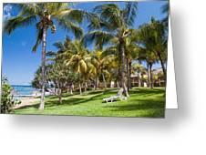 Tropical Beach I. Mauritius Greeting Card