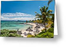 Tropical Beach II. Mauritius Greeting Card