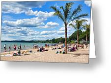 Tropical Beach In Port Dover Greeting Card
