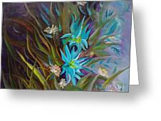 Tropical Blue Greeting Card