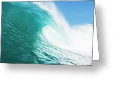 Tropical Blue Ocean Wave Greeting Card