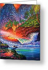 Tropical Color Mosaic Greeting Card
