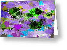 Tropical Fish Abstraction Greeting Card