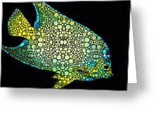 Tropical Fish Art 8 - Abstract Mosaic By Sharon Cummings Greeting Card
