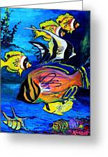 Tropical Fish Greeting Card by Karon Melillo DeVega